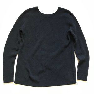 Autumn Cashmere Sweater Medium Navy Blue Ribbed